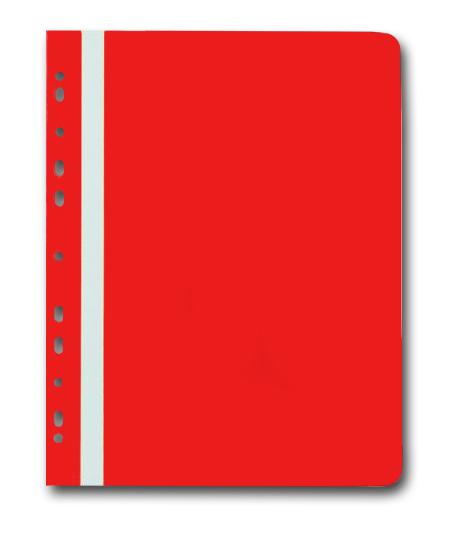 PP Rychlovazač plastový A4 s euroděrováním 1 ks - červený