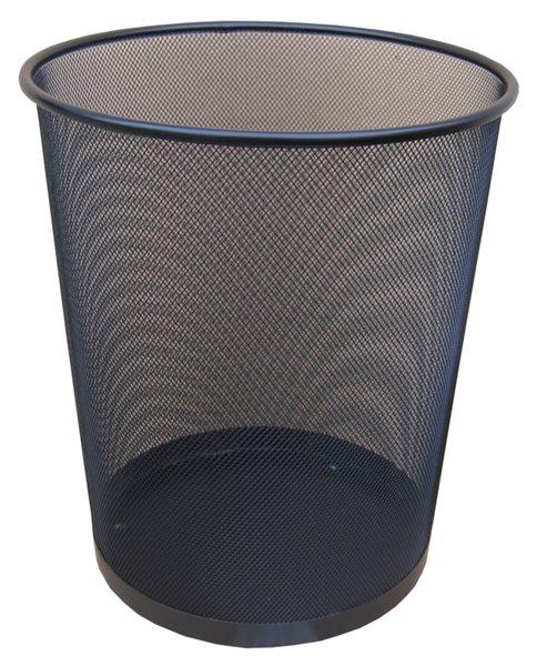 Drátěný odpadkový koš 29,5x34,5 cm - černý