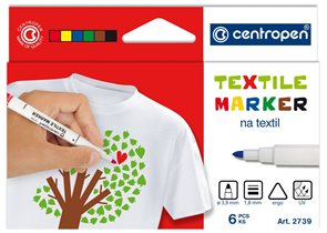 Centropen Popisovač 2739 na textil - sada 6 barev