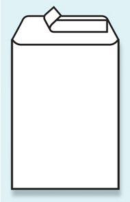 Obálka C4 samolepící s krycí páskou bílá