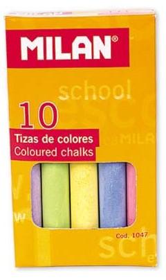 Milan Křídy 1047 bezprašné 10 ks - barevné - velikost křídy cca 8 cm