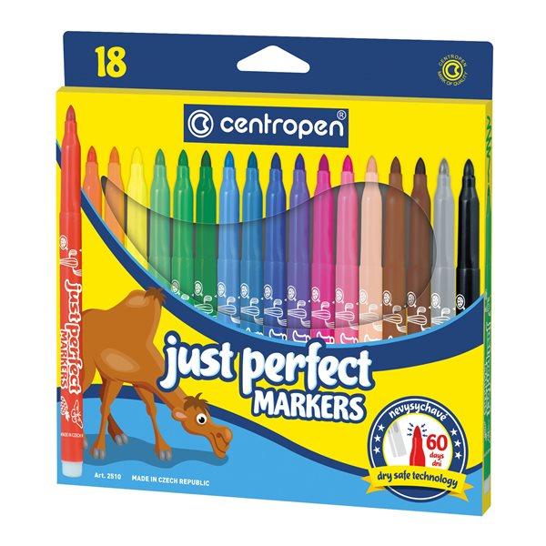 Centropen Popisovač 2510 Perfect - sada 18 barev