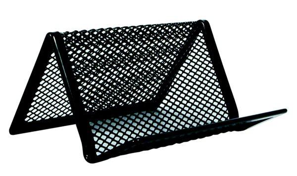 Drátěný stojánek na vizitky - černý