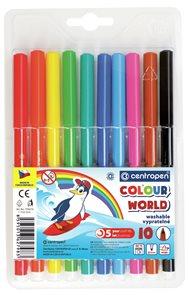 Centropen Popisovač COLOUR WORLD 7550 trojboký - sada 10 barev