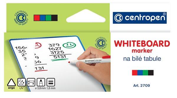 Centropen Popisovač 2709 na bílé tabule - sada 4 barev