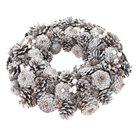 Dekorativní vánoční věnec s šiškami