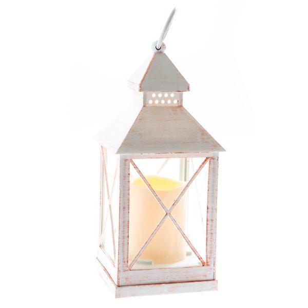 Lucerna s LED světlem - bílá