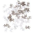 Dřevění sobíci - bílí, šedí (60 ks)