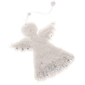 Závěsný anděl - bílý