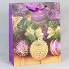 Dárková vánoční taška fialová (18 x 23 x 10 cm)