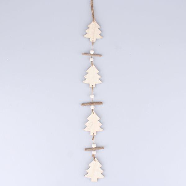 Vánoční girlanda Stromky - bílá