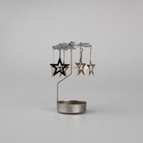 Kovový svícen Andělské zvonění - Hvězdy