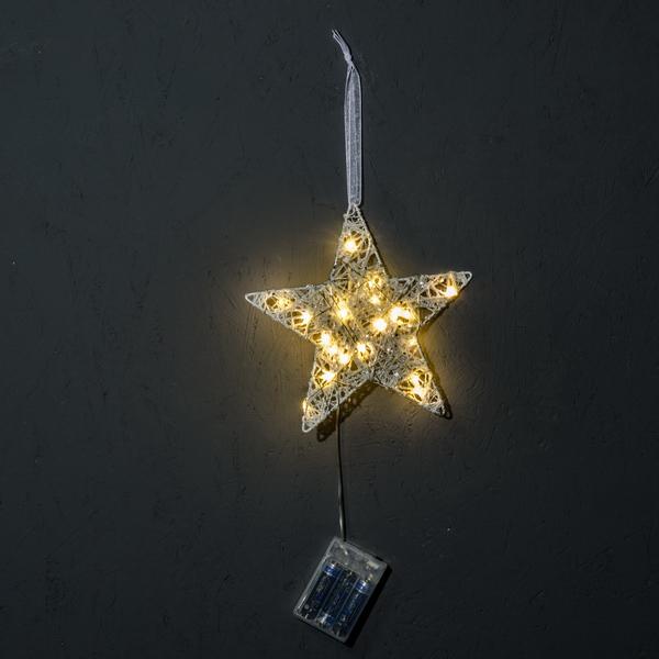 Svítící hvězda s LED světly 20 cm