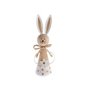 Dřevěný zajíc - bílý