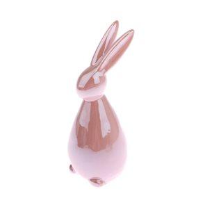 Keramický zajíc - růžový