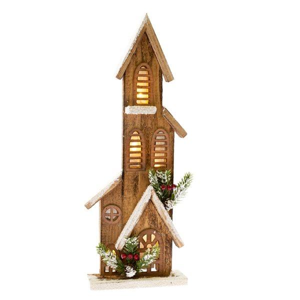 Dřevěný domeček se světlem - velký