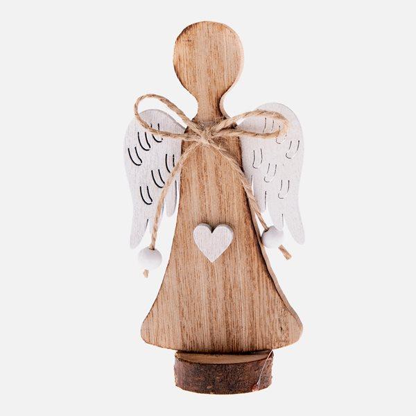 Dřevěný anděl - přírodní