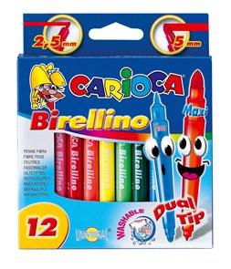 Carioca Popisovače  Birellino oboustranné - 12 barev