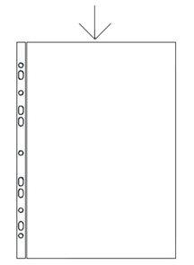 """Zakládací obal """"U"""" A4 čirý s euroděrováním 55 mikronů - 100 ks"""