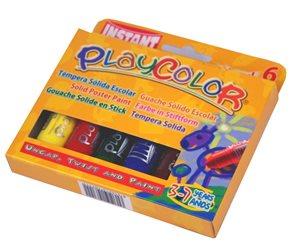 Playcolor - tuhé temperové barvy 6 kusů