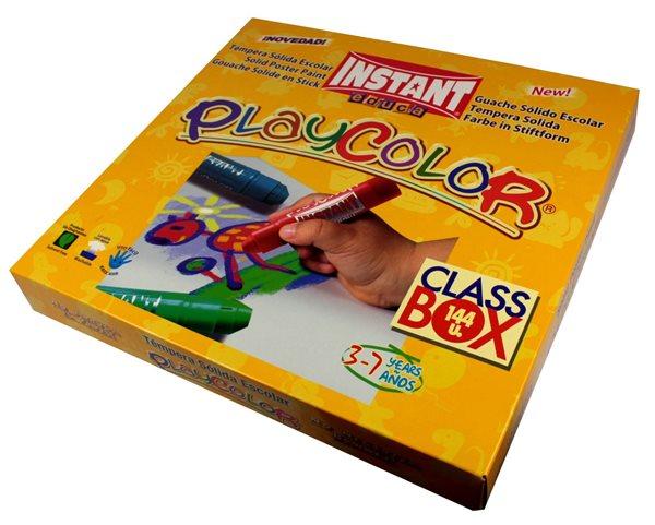 Playcolor - tuhé temperové barvy 144 kusů, Doprava zdarma
