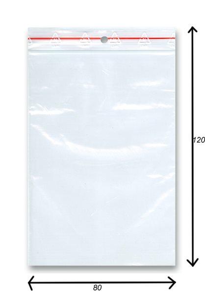 Sáček rychlozavírací 100ks - 80x120 mm