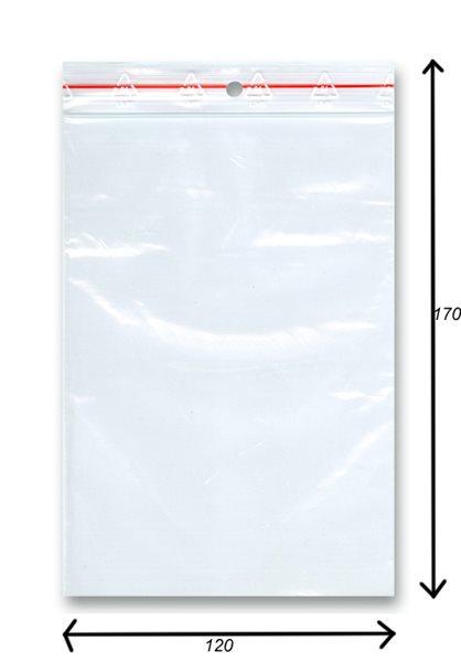 Sáček rychlozavírací 100ks - 120x170 mm