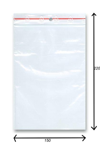 Sáček rychlozavírací 100ks - 150x220 mm