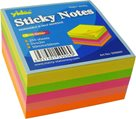 Samolepicí bloček 50 × 50 mm 250 listů - mix neon barev