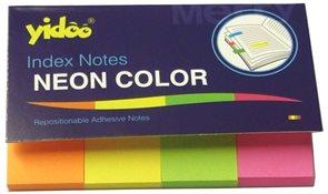 Samolepicí bloček 50 x 20 mm 4 barvy - neon mix