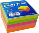 Samolepící bloček 75x75mm 400 listů - neon mix
