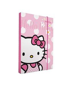 Karton P+P Desky na sešity A5 box s gumou - Hello Kitty vzor 2011