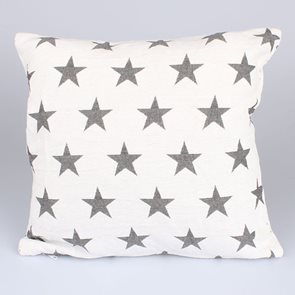 Gobelínový povlak na polštář Hvězdy - šedé
