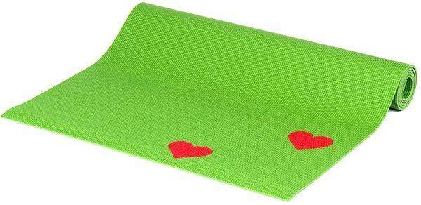 Dětská podložka na cvičení - zelená srdíčka