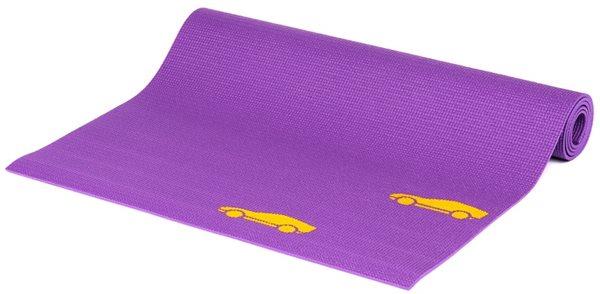 Dětská podložka na cvičení - fialová autíčka