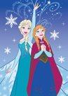 Dětský koberec Ledové království - Anna a Elsa vločky
