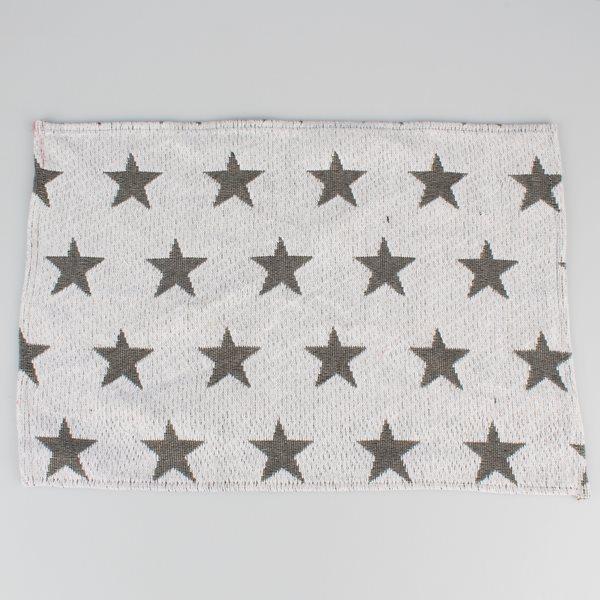 Gobelínové prostírání Hvězdy - bílé 4 ks