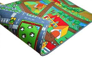 Dětský koberec Duoplay silnice/farma - 100 x 165 cm