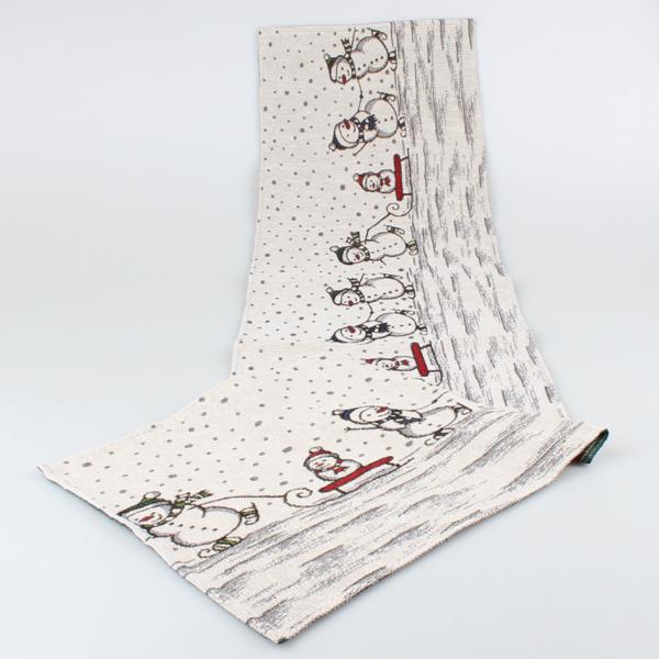 Gobelínový běhoun Sněhuláci