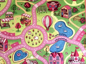 Dětský koberec Sladké město - 95 x 200 cm