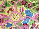 Dětský koberec Sladké město - 200 x 200 cm