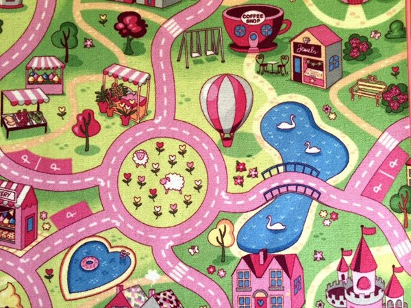 Dětský koberec Sladké město - 200 x 200 cm, Sleva 8%