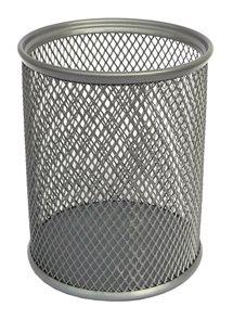 Drátěný stojánek na tužky kulatý - stříbrný
