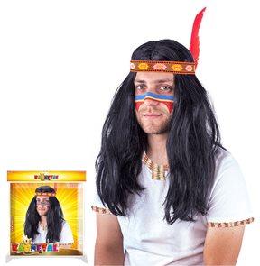 Paruka indiánská pánská dospělá