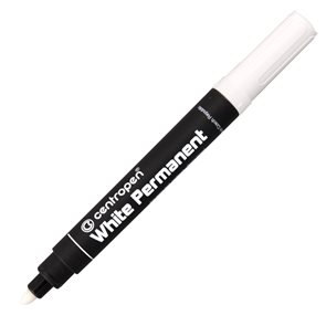 Centropen Popisovač 8586 White permanent - bílý