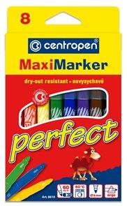 Centropen Popisovač 8610/8 Perfect - sada 8 barev