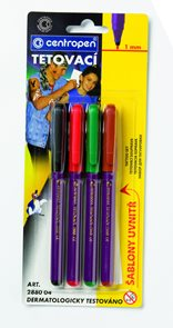 Centropen Tetovací fixy 2880/4 - sada 4 barev