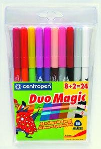 Centropen Duomagic 2599/10 2x přebarvitelné popisovače - sada 10 barev