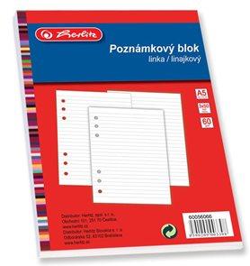 Herlitz Poznámkový blok do TP A5 3 ks, 50 listů, linka