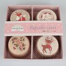 Papírové košíčky na pečení 100 ks - Vánoční motiv 2